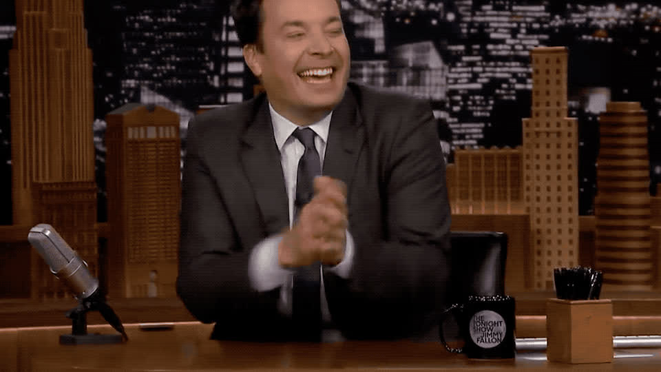 comedian, comedy, epic, fallon, fun, funny, ha, haha, hehe, hilarious, jimmy, joke, joking, laugh, laughing, lol, loud, out, show, tonight, Jimmy Fallon - Haha GIFs