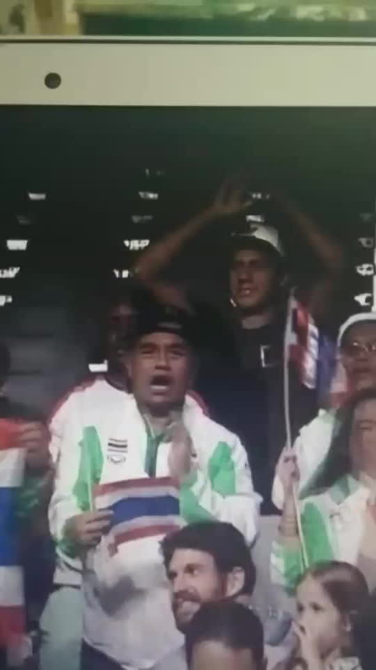 olympics, Thai fans having a good time at the weightlifting (reddit) GIFs