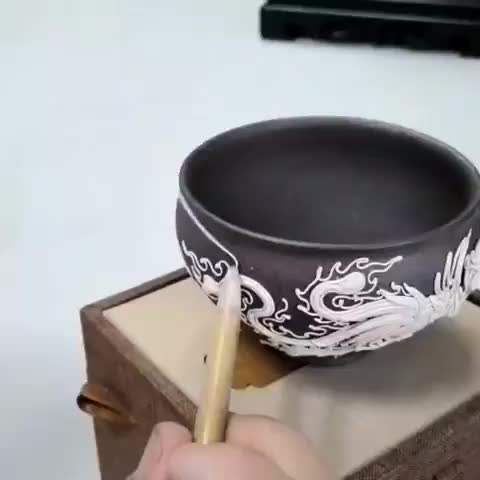 Watch These flame designs being applied to a vase GIF by tothetenthpower (@tothetenthpower) on Gfycat. Discover more related GIFs on Gfycat