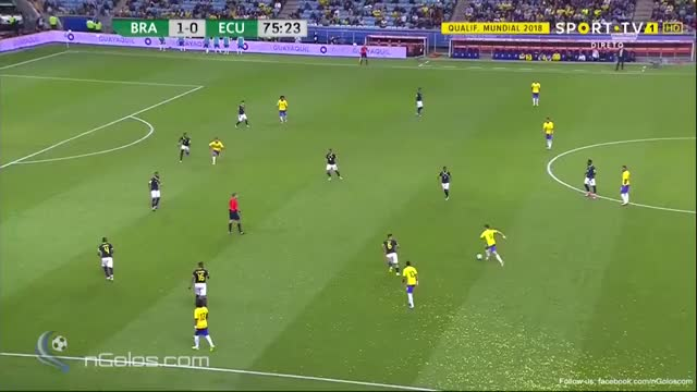 Watch and share (www.nGolos.com) Brazil 2-0 Ecuador - Coutinho 76' (WC 2018 - Qualif.) GIFs on Gfycat