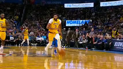 Watch and share Anthony Davis And LeBron James — Los Angeles Lakers GIFs by Off-Hand on Gfycat