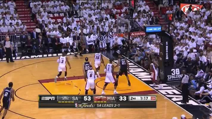 NBASpurs, nba, nbaspurs, GAME THREAD: #1 San Antonio Spurs (2-1) @ #2 Miami Heat (1-2) - Round 4 (Jun. 12, 2014) (reddit) GIFs