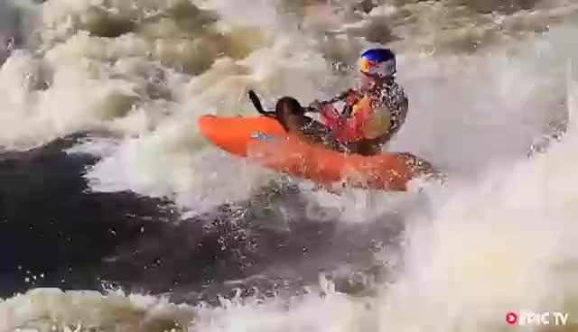 extreme, extreme sports, kayaking, white water play GIFs