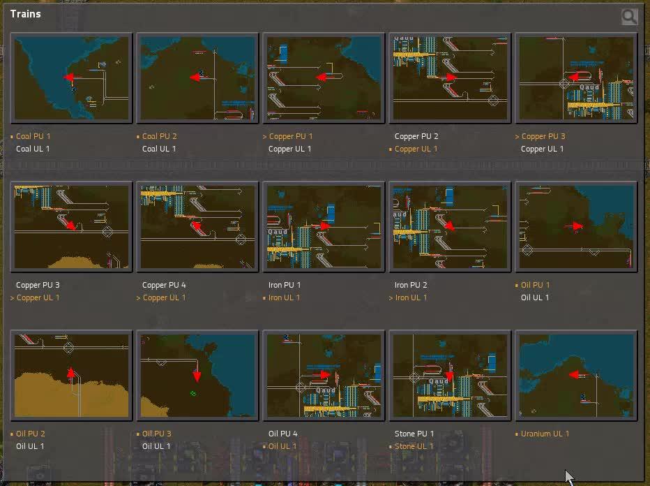 Factorio, Train amount GIFs
