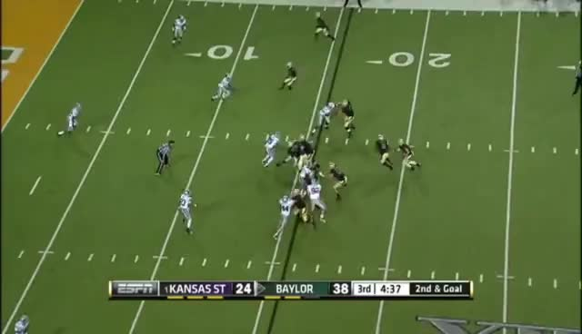 Baylor, Bears, Football, Kansas State, Running Back, Touchdown, Upset, Wildcats, Martin TD vs K-State 2012 GIFs