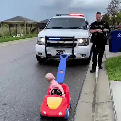 Watch and share Police Officer GIFs and Baby GIFs by notmyproblem on Gfycat