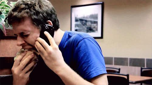 Corey Vidal, CoreyVidal, burger, cry, crying, eat, eating, hamburger, phone, Crying GIFs