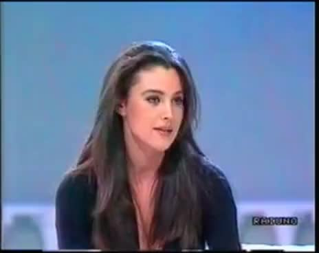Watch and share 1991 Mayer Intervista Bellucci GIFs on Gfycat