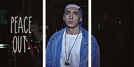 Eminem, deuces, peace, peaceout, peace GIFs