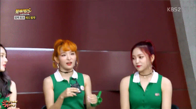Red Velvet, kpopgfys, When you're still coming to terms with Seulgi's new hair GIFs