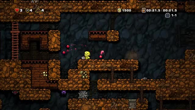 Watch and share Spelunky One Tile Backwhip GIFs by krille71 on Gfycat