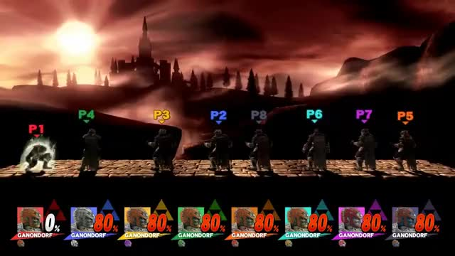 SSB4 Ganondorf Final Smash 8 Players!
