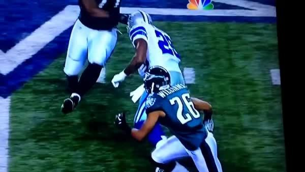 nflgifs, DeMarco Murray obliterating Damion Square (reddit) GIFs