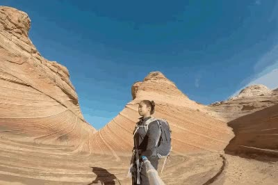 Watch and share Hiking The Wave At Coyote Buttes North | Strictly Sassy GIFs on Gfycat