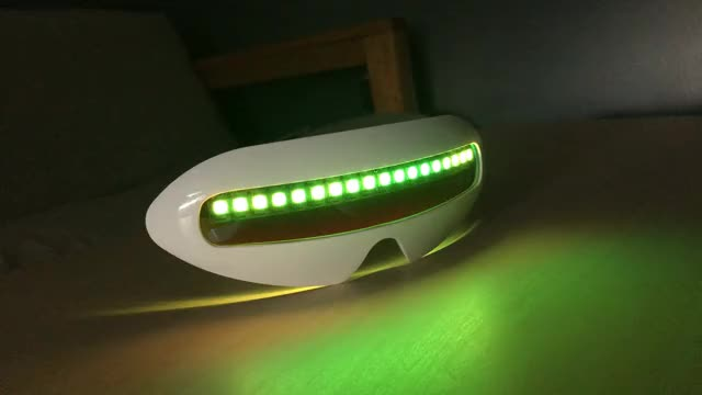 Watch FuturemanGaming Neopixel Visor 2 GIF by Naaackers (@nackers) on Gfycat. Discover more related GIFs on Gfycat