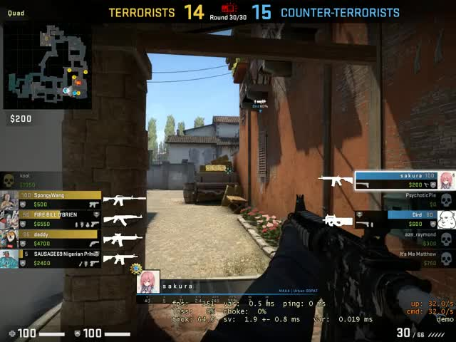 Watch and share 2v5 Retake On Inferno GIFs by skillswap on Gfycat
