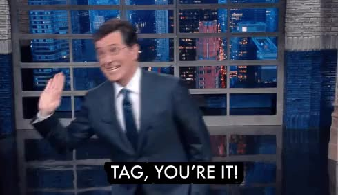 Watch Tag GIF by @nlk21 on Gfycat. Discover more stephen colbert GIFs on Gfycat