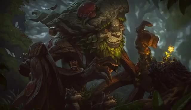 Watch and share Ivern, The Green Father   Login Screen - League Of Legends GIFs on Gfycat