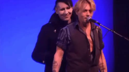 Watch this GIF on Gfycat. Discover more Johnny Depp, Marilyn Manson GIFs on Gfycat