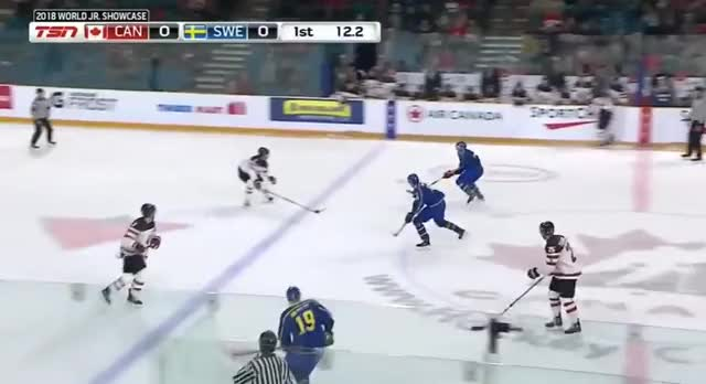 Watch and share Evan Bouchard Beat On Rush GIFs by cultofhockey on Gfycat