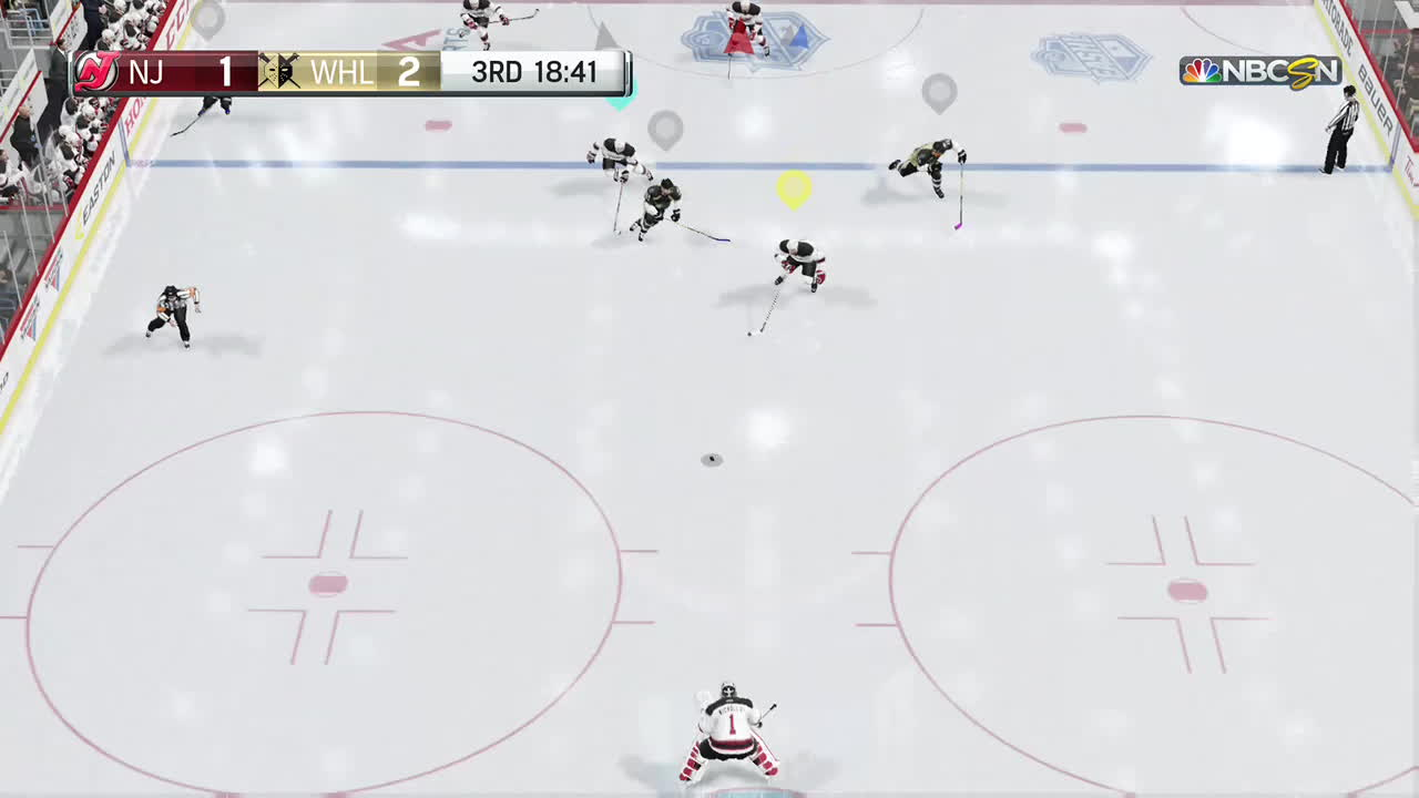 nhl, nhlhut, xb1, when your goalie is sick of being run GIFs