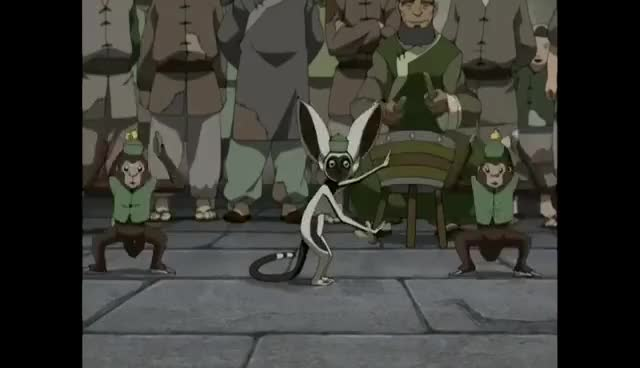 Watch and share Avatar: The Last Airbender - Momo Dancing For 10 Minutes GIFs on Gfycat