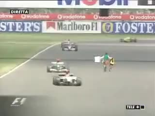 Watch Formula 1 Track Invasion - Cornelius Horan - Silverstone 2003 GIF on Gfycat. Discover more related GIFs on Gfycat
