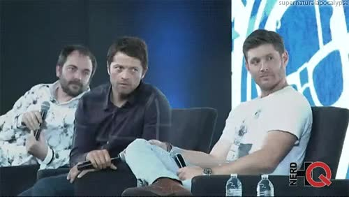Watch supernatural cast GIF on Gfycat. Discover more mark a. sheppard, misha collins GIFs on Gfycat