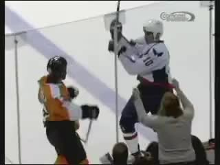 Carcillo, flyers, hockey fight, knockout, Carcillo knockout GIFs
