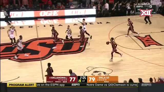 Watch and share Oklahoma Vs Oklahoma State Basketball 2018 (Jan. 20) GIFs by Pistols Firing on Gfycat