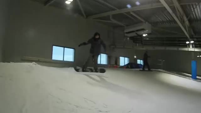Watch and share This Snowboarding Line Down An Indoor Slope (reddit) GIFs by solarliner on Gfycat