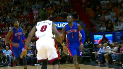Watch and share Reggie Jackson — Detroit Pistons GIFs by Off-Hand on Gfycat