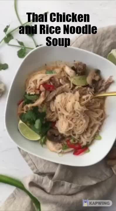 Watch and share Thai Chicken Rice Noodle Soup Video GIFs by Kitchenful on Gfycat