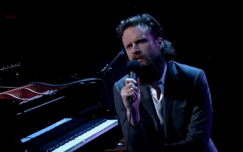 david letterman, father john misty, featuring the piano on the piano, full name, gif, josh tillman, joshua tillman, music, sub pop, sub pop records, Father John Misty ft.