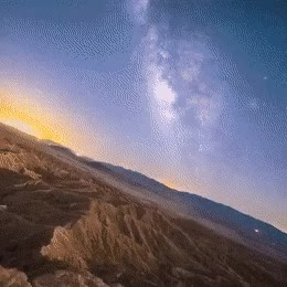 Watch and share The Stabilized Milky Way Shows That The Earth Is Spinning. GIFs on Gfycat