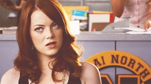 Emma Stone, exhale, overit, sigh, I'm over it GIFs