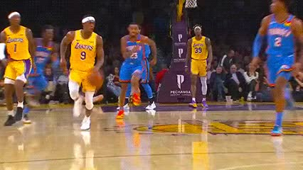 Watch and share Rajon Rondo And LeBron James — Los Angeles Lakers GIFs by Off-Hand on Gfycat