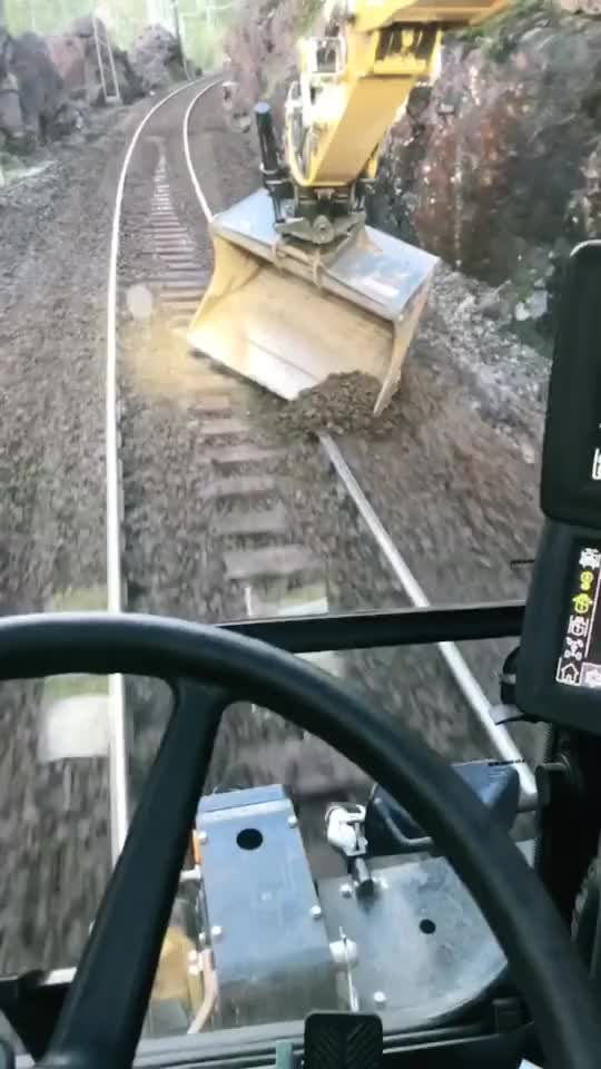 Watch and share Grading Over The Railroad Track GIFs by hellsjuggernaut on Gfycat