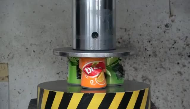 Watch and share EXPERIMENT HYDRAULIC PRESS 100 TON Vs ALUMINUM FOIL BALL GIFs on Gfycat