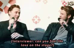 Watch and share Chris Hemsworth GIFs and Tom Hiddleston GIFs on Gfycat