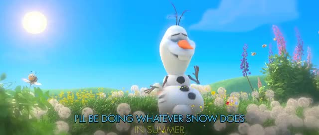 "Watch and share FROZEN | ""In Summer"" Song - Sing-a-long With Olaf - Official 