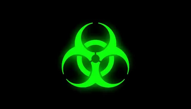 Watch and share Glowing Bio-hazard Symbol (Green) GIFs on Gfycat