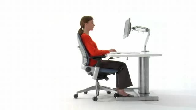 Watch Steelcase Leap sliding seatpan GIF by @tszynalski on Gfycat. Discover more ergonomic chair, leap, office chair, steelcase GIFs on Gfycat
