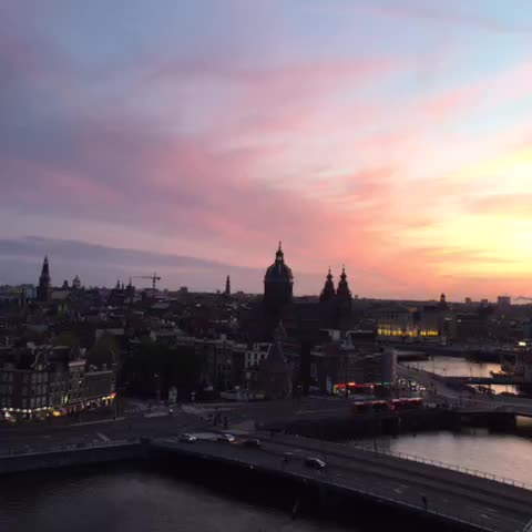 Amsterdam sunset GIFs