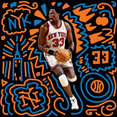 Watch and share New York Knicks GIFs and Patrick Ewing GIFs on Gfycat