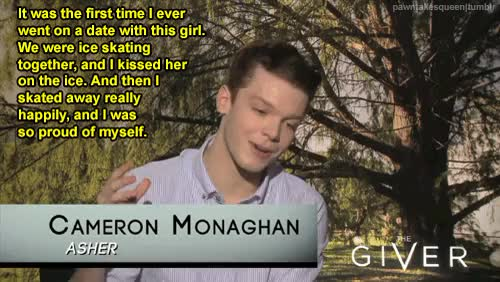 Watch and share Cameron Monaghan GIFs and Brenton Thwaites GIFs on Gfycat
