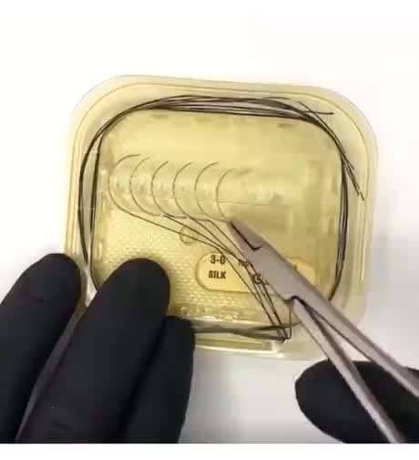 Watch and share Suture-kit-to-practice-stitches GIFs on Gfycat