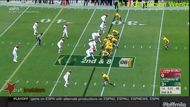 Watch and share Carson Wentz (North Dakota State) Vs. Jacksonville State (2015) GIFs on Gfycat