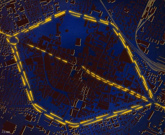 Watch and share La Porta San Stefano Cernée Par Les Boulevards Périphériques GIFs on Gfycat