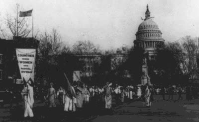 Watch and share On March 3, 1913, The 5000-strong Women's Suffrage March In Washington, DC Was A Turning Point In Efforts To Gain Women The Right To Vote. GIFs on Gfycat